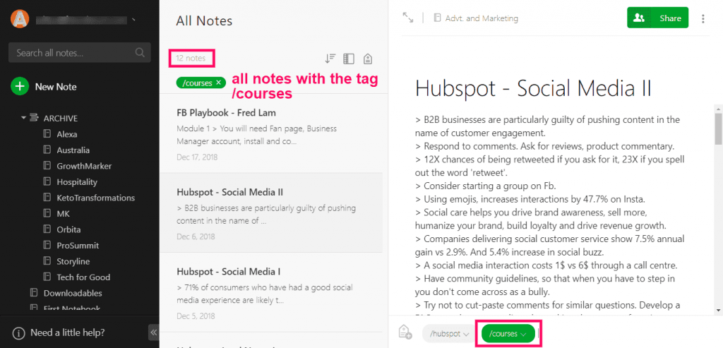 evernote-tag-search-2-alternatives to evernote